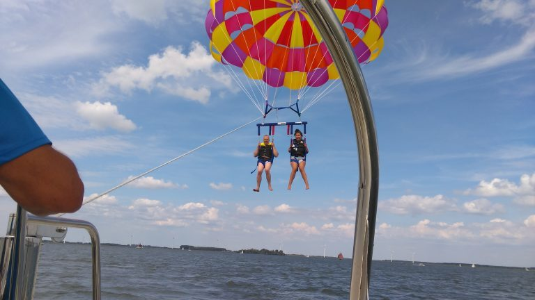 Parasailing on the Veluwemeer