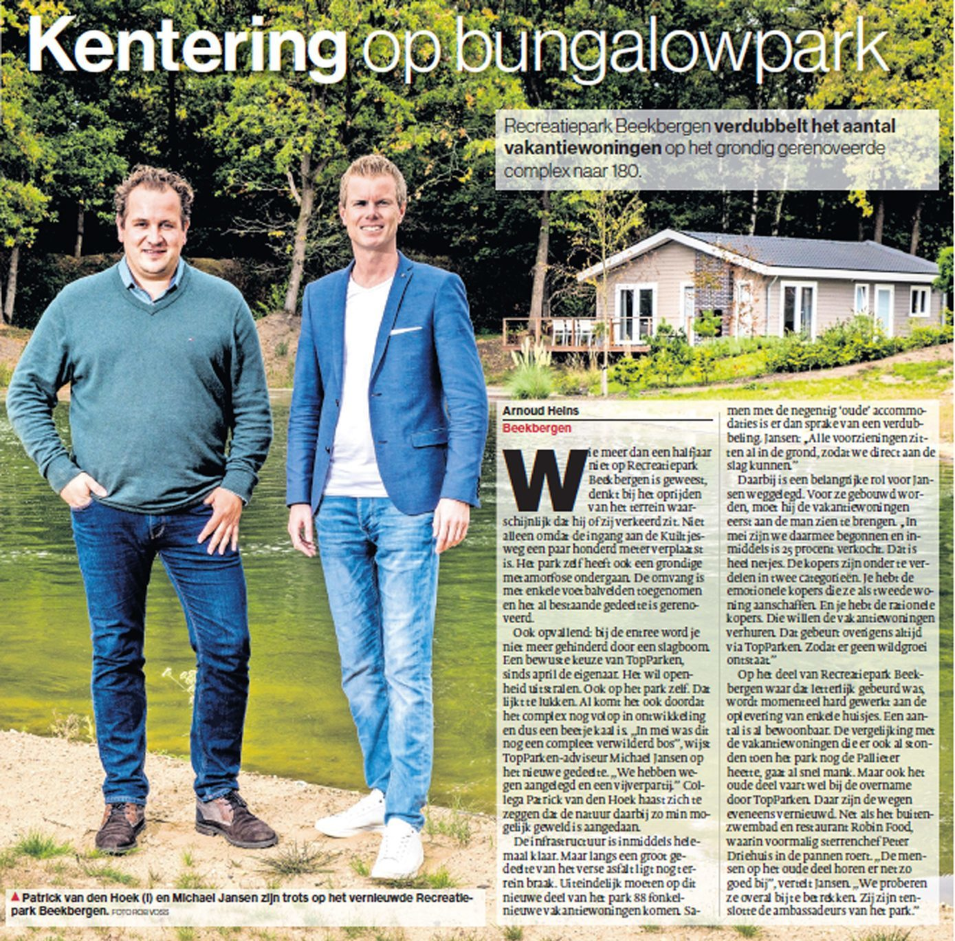 Article Holiday park Beekbergen in Stentore