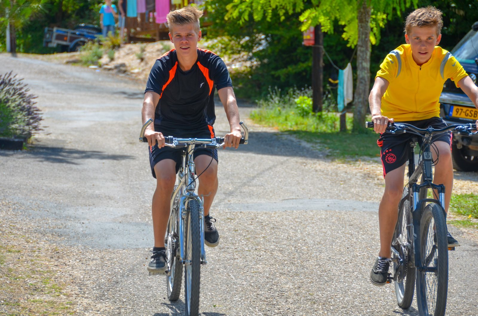 Mountain biking at La Draille