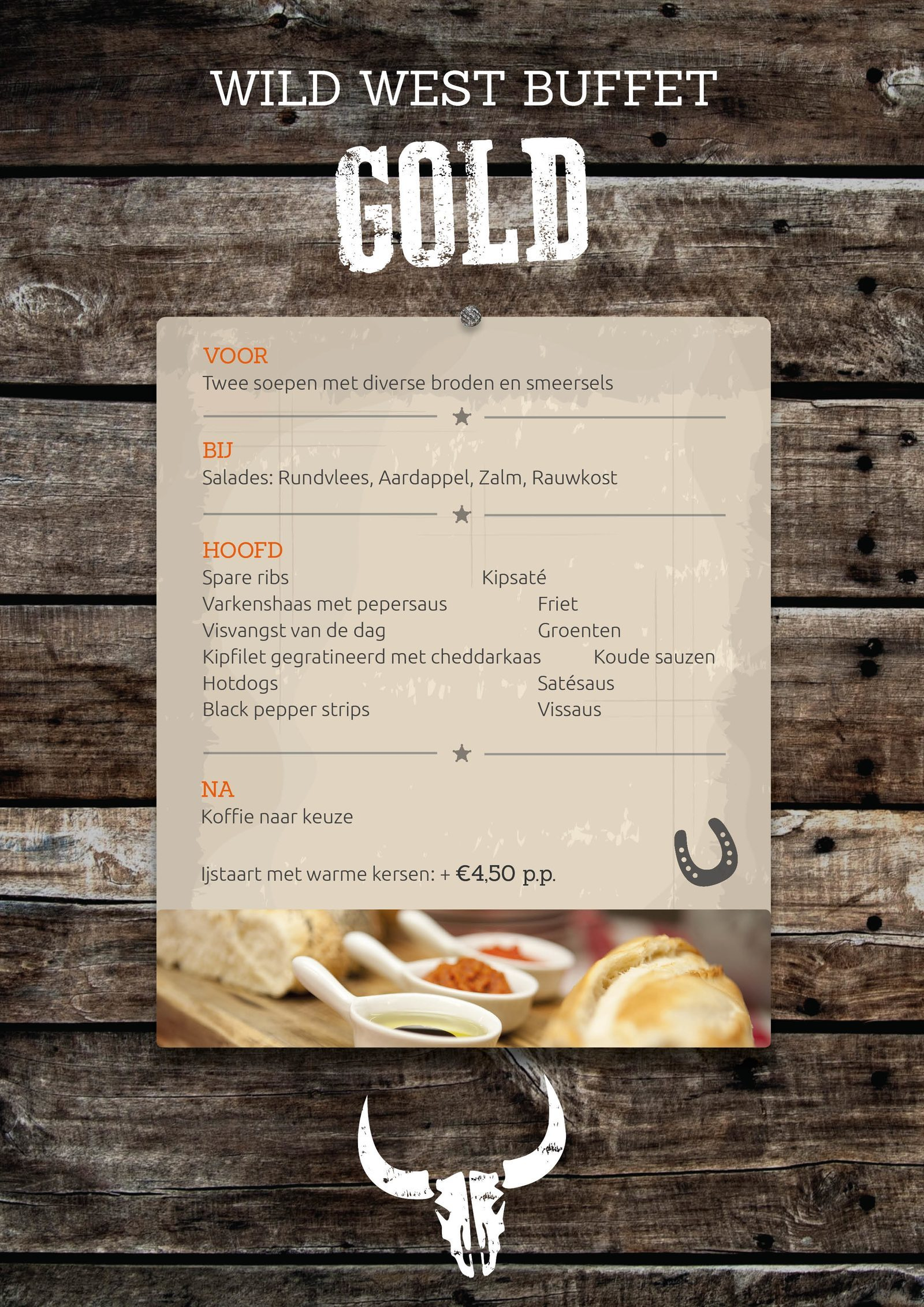 Luxe Wild West Gold buffet in Voorthuizen