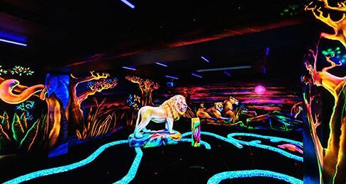 Goolfy Black Light Mini Golf