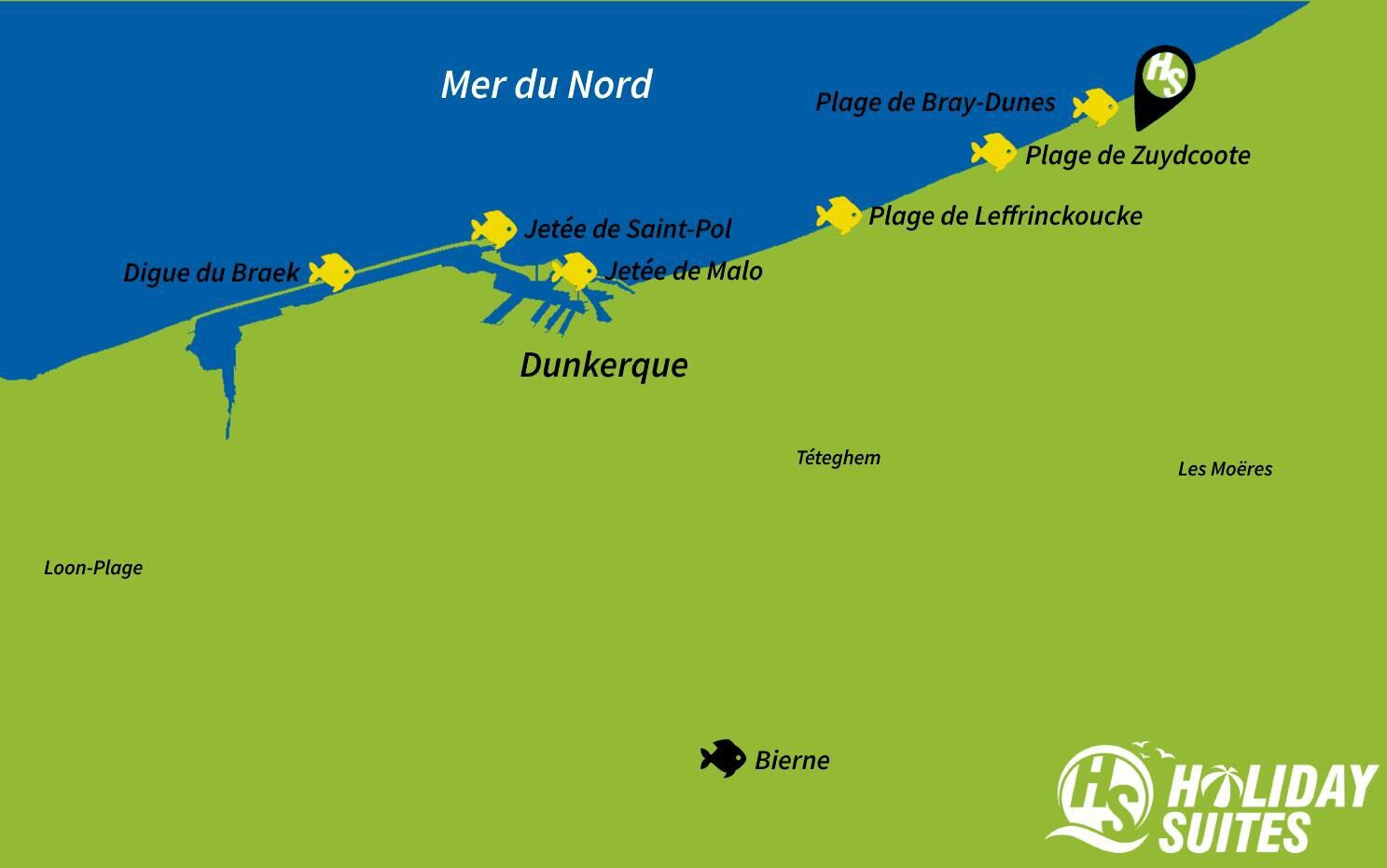 Map Pêche Holiday Suites