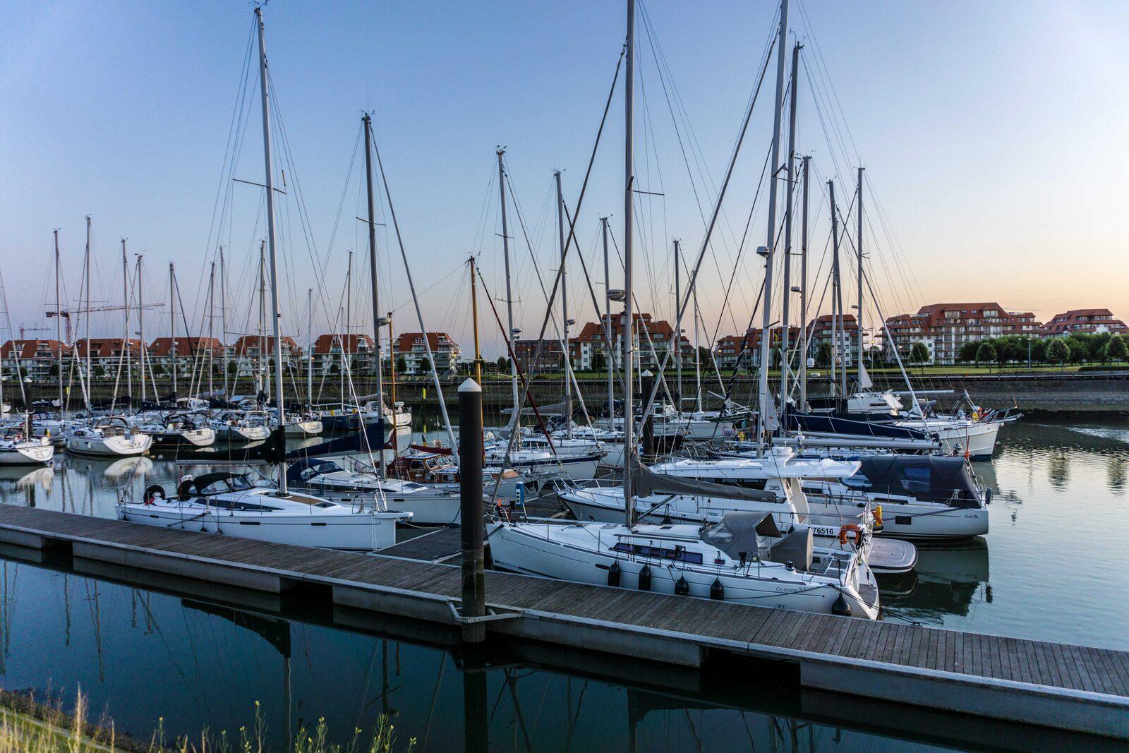 The extensive marina