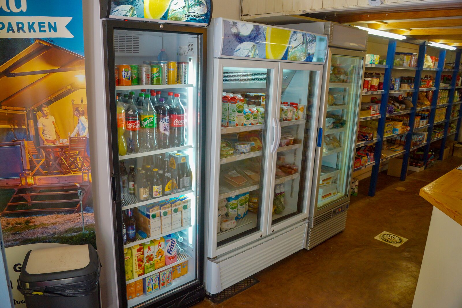 Refrigerated products in park shop Walsdorf