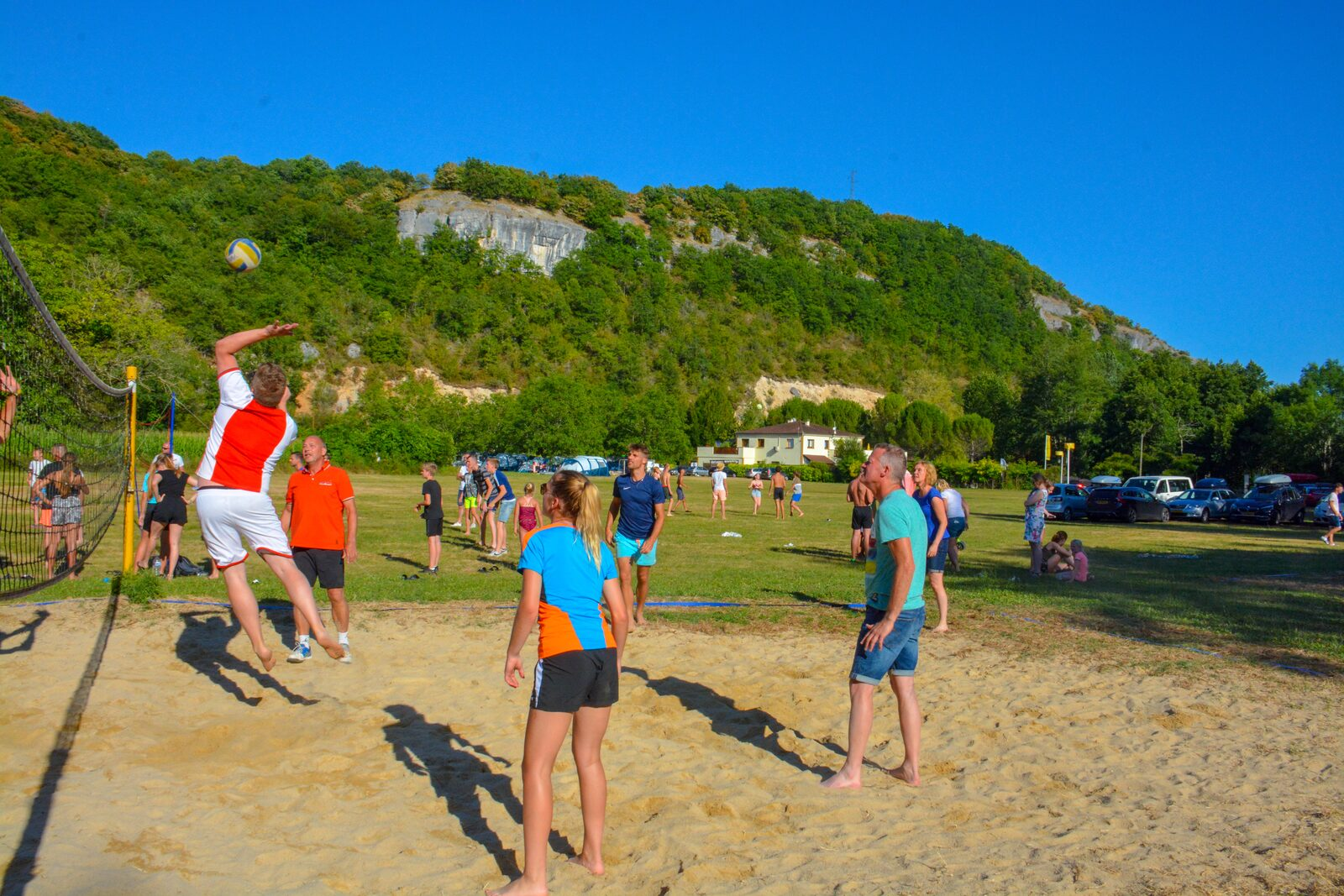 Volleybal op La Draille