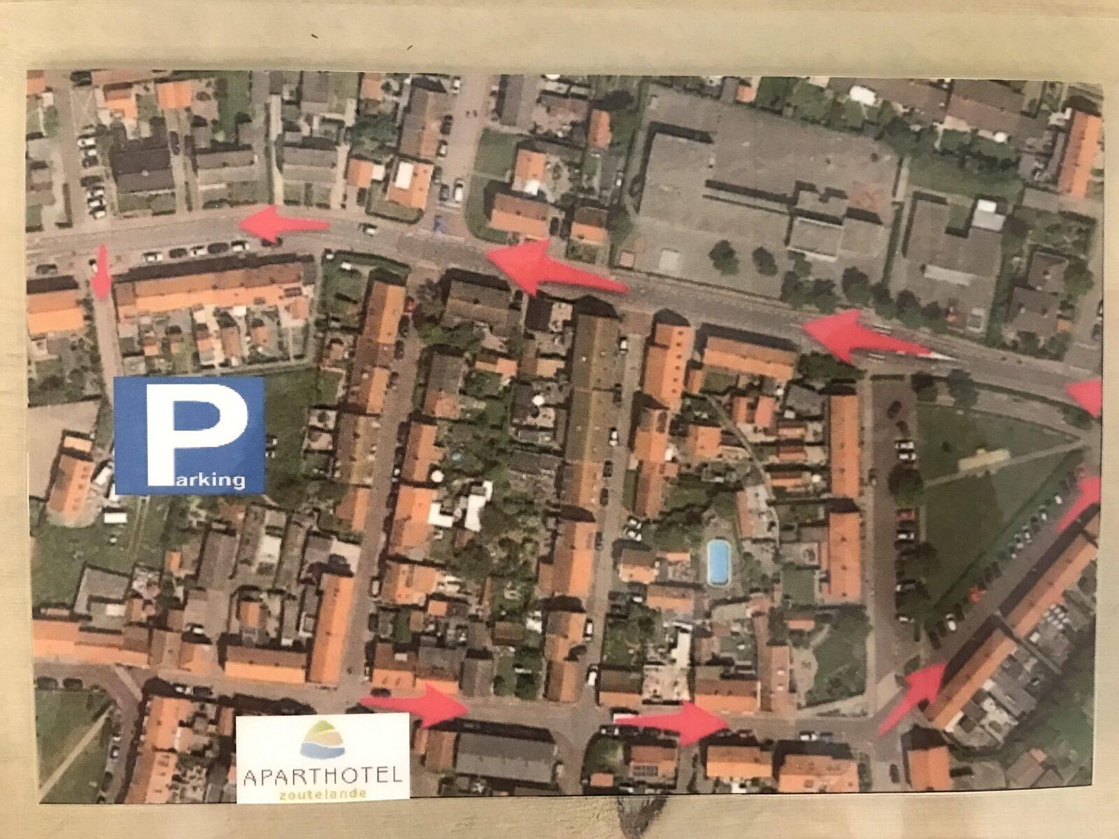 Route naar parkeerterrein