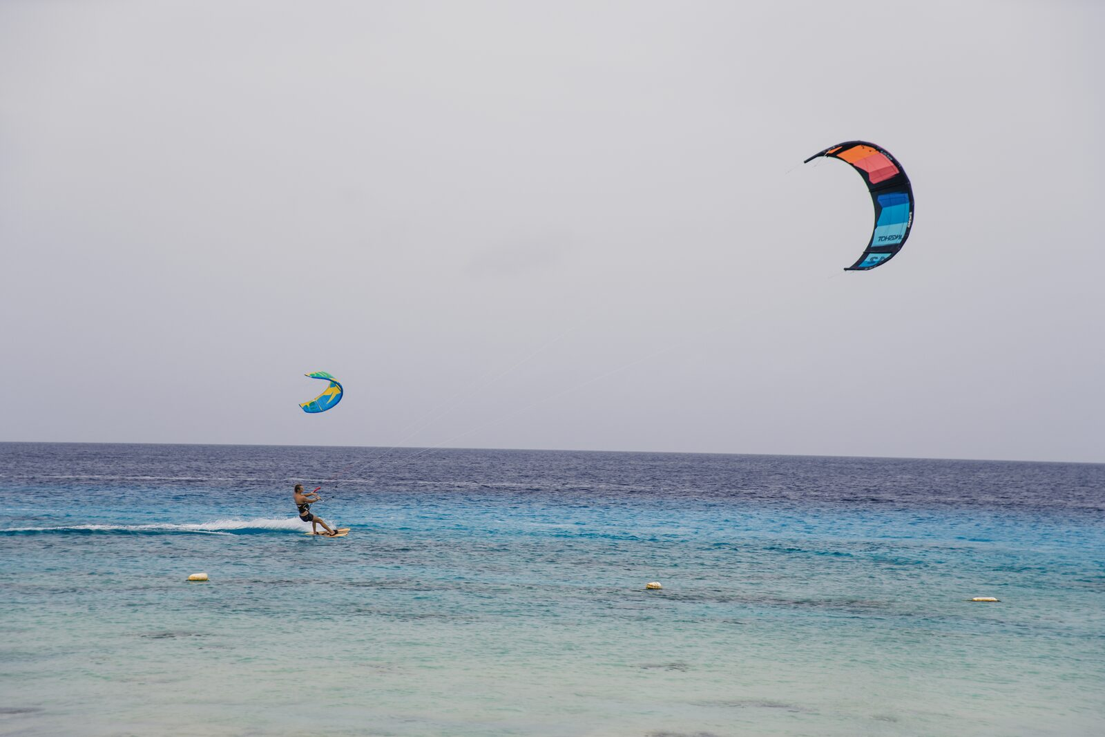 Kite surfing on Bonaire