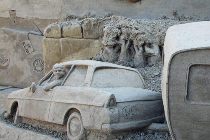 Skulpturen aus Sand