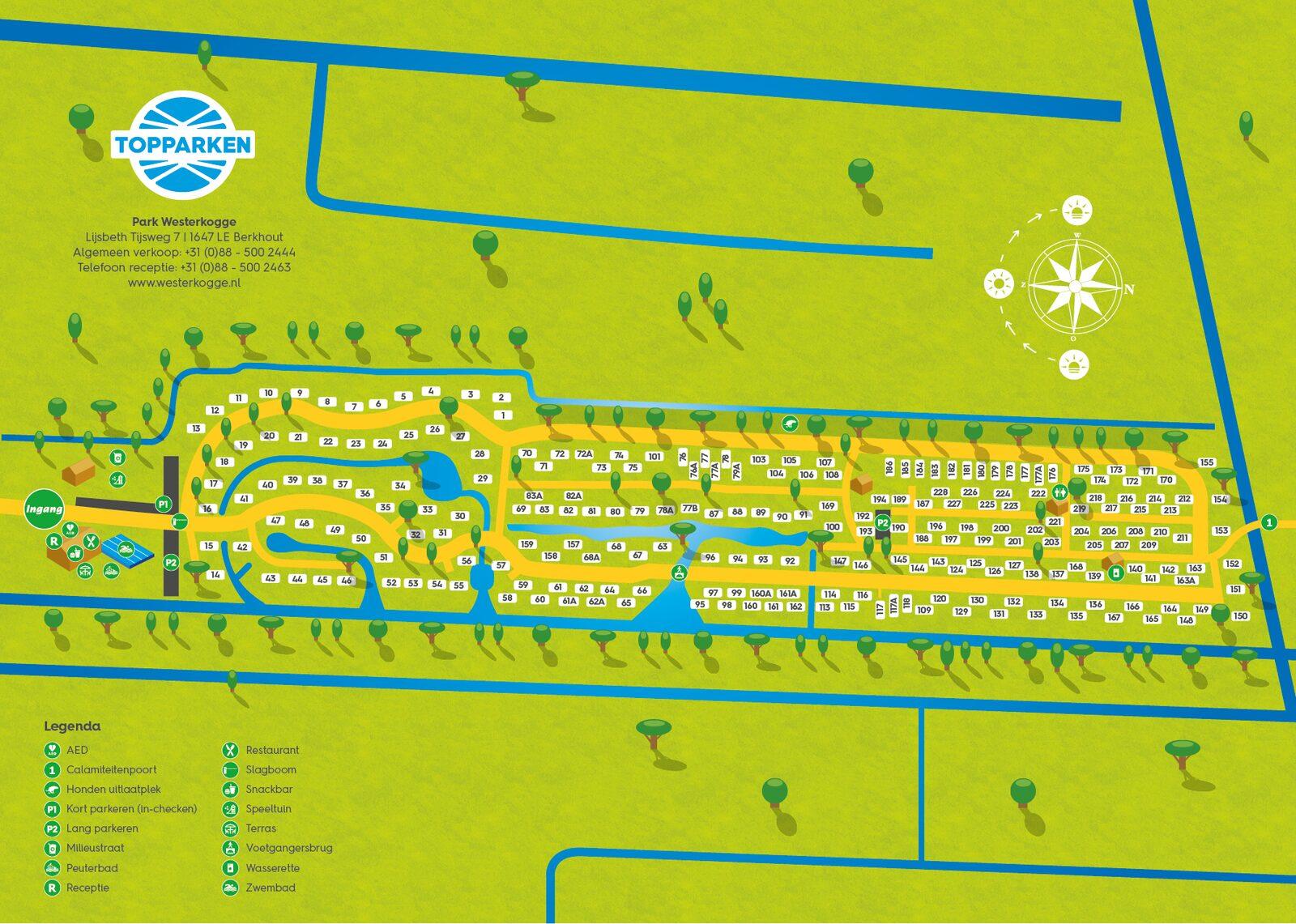 Parkplattegrond Park Westerkogge