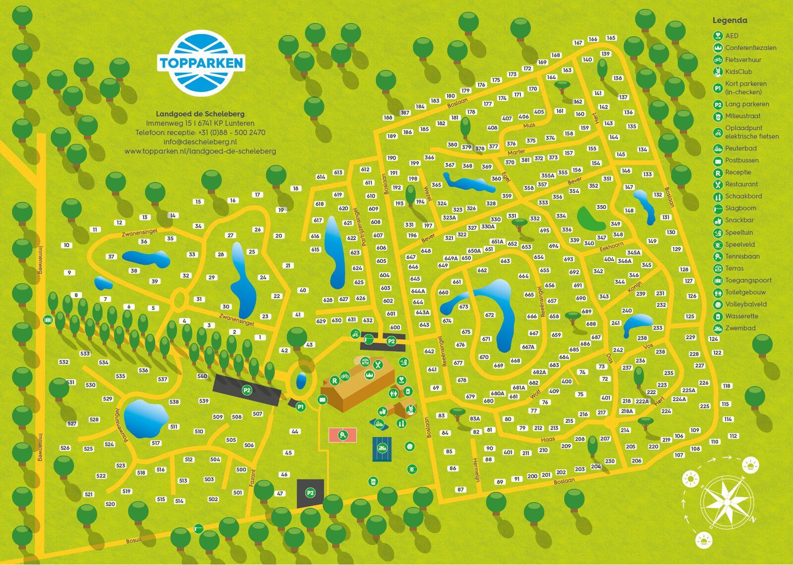 Parkplattegrond Landgoed de Scheleberg