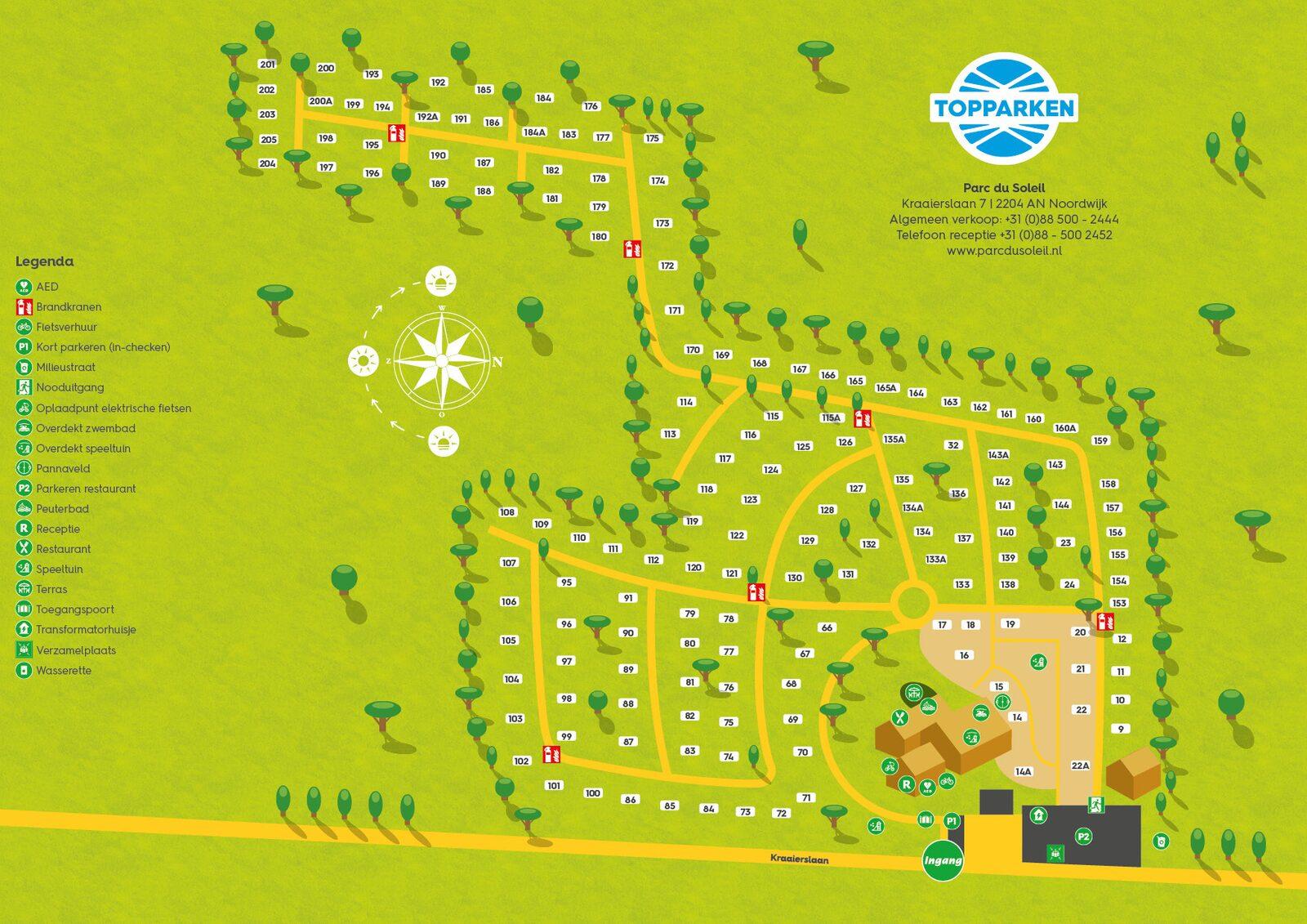 Parkplattegrond Parc du Soleil
