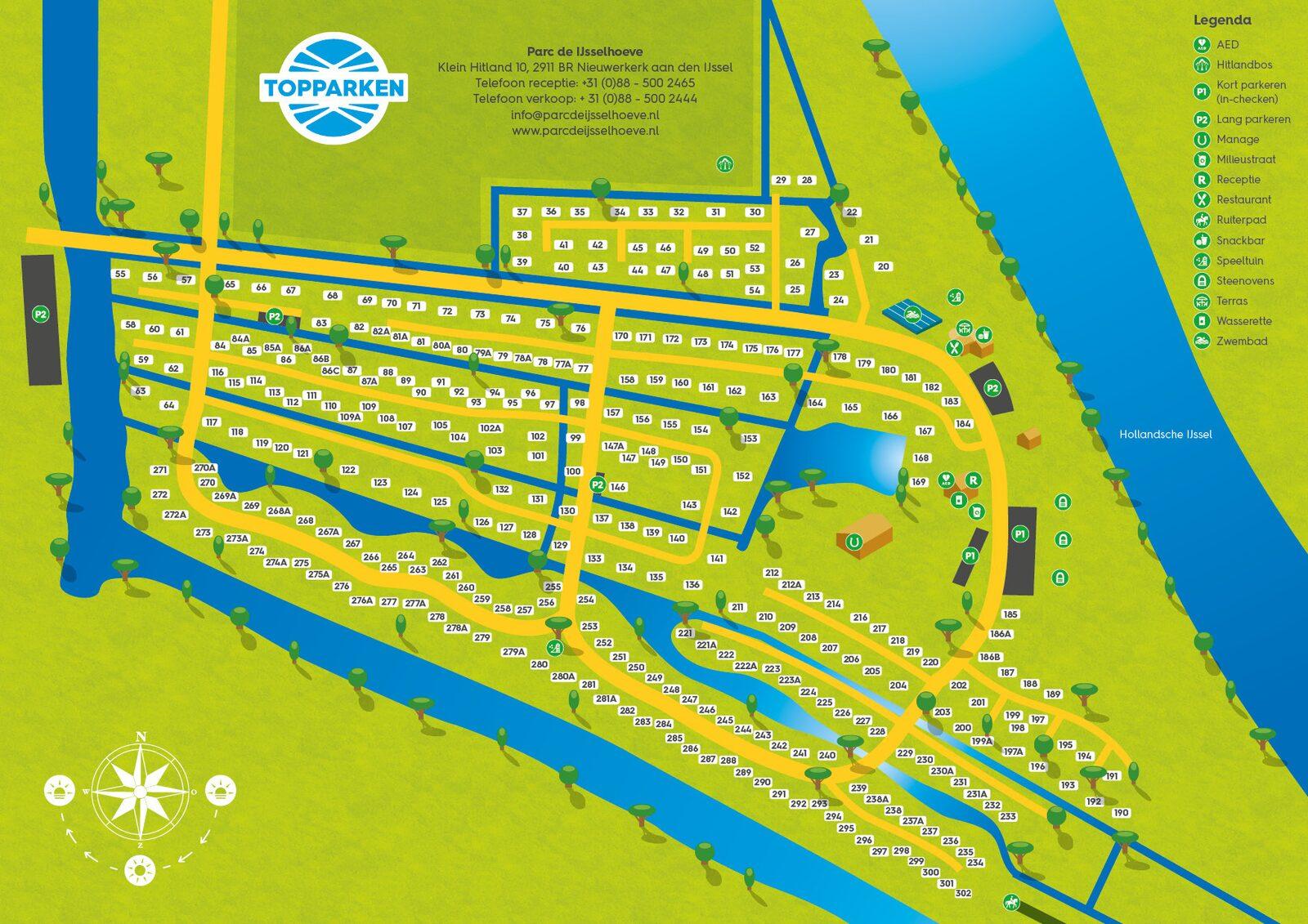 Parkplattegrond Parc de IJsselhoeve