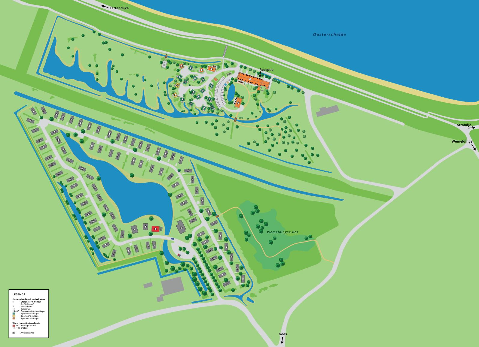Karte Water Resort Oosterschelde