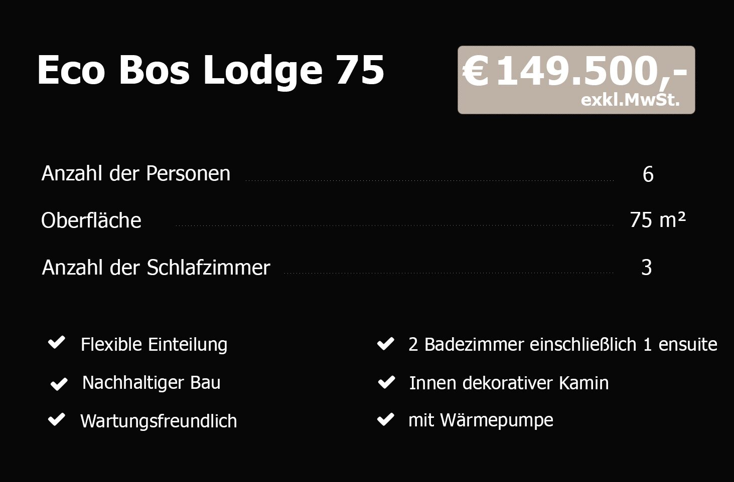 Eco Bos Lodge 75