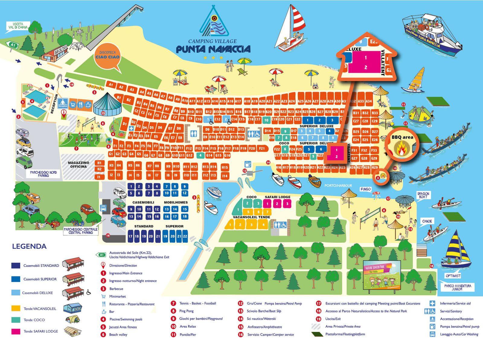 Mappa del Punta Navaccia
