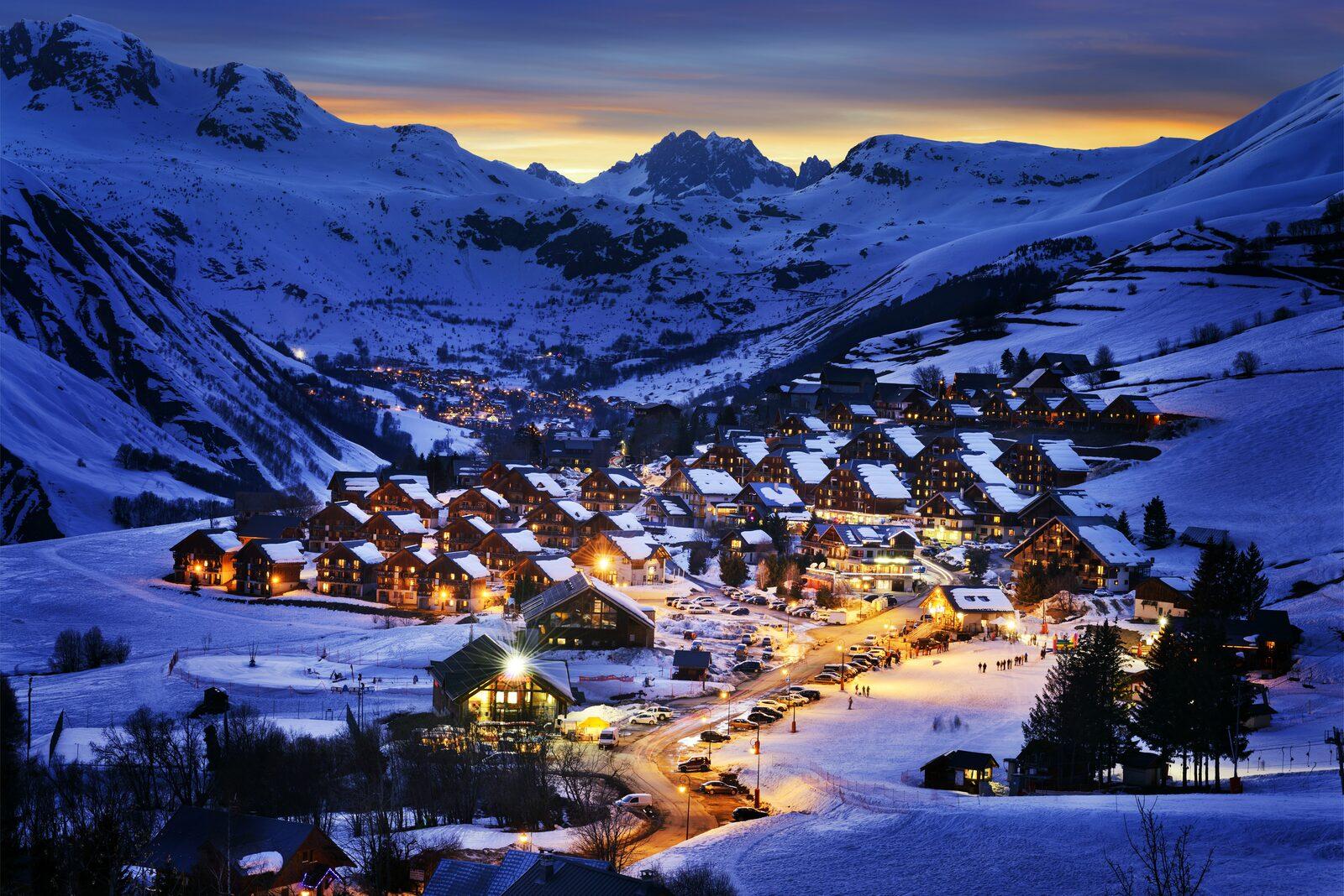 Night skiing Les Portes du Soleil