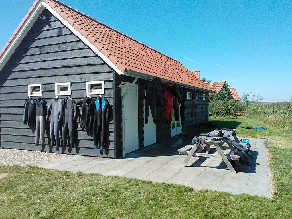 The diving barn
