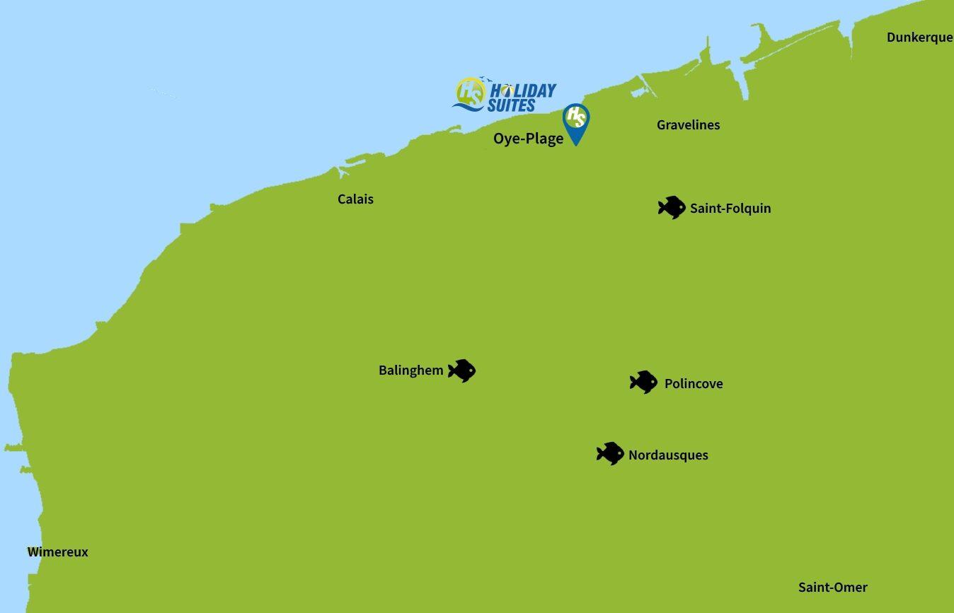 Map Oye-Plage