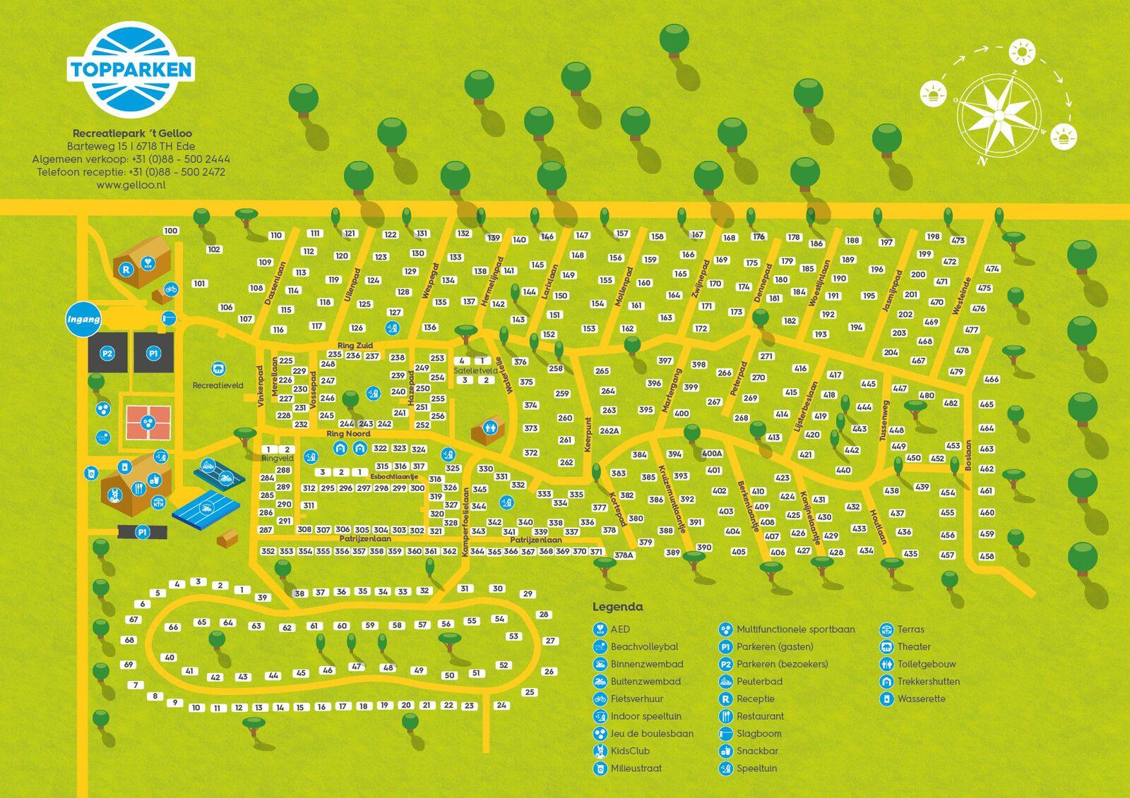 Karte des Parks