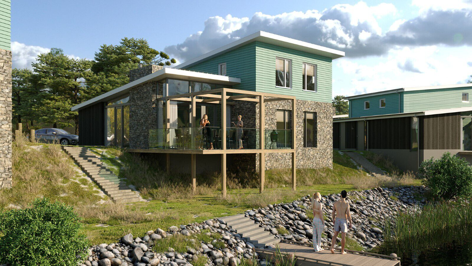 Stone holiday home for sale of private land