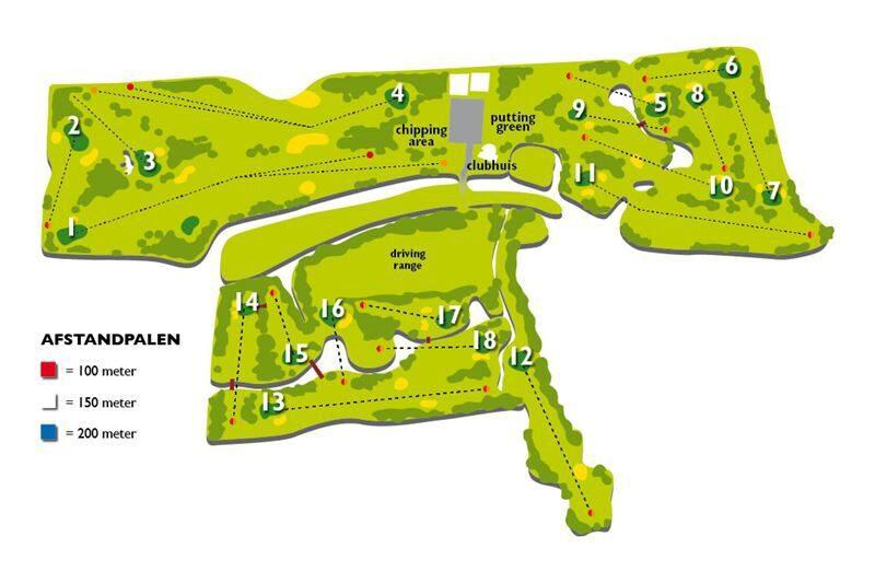 Kaart golfbaan