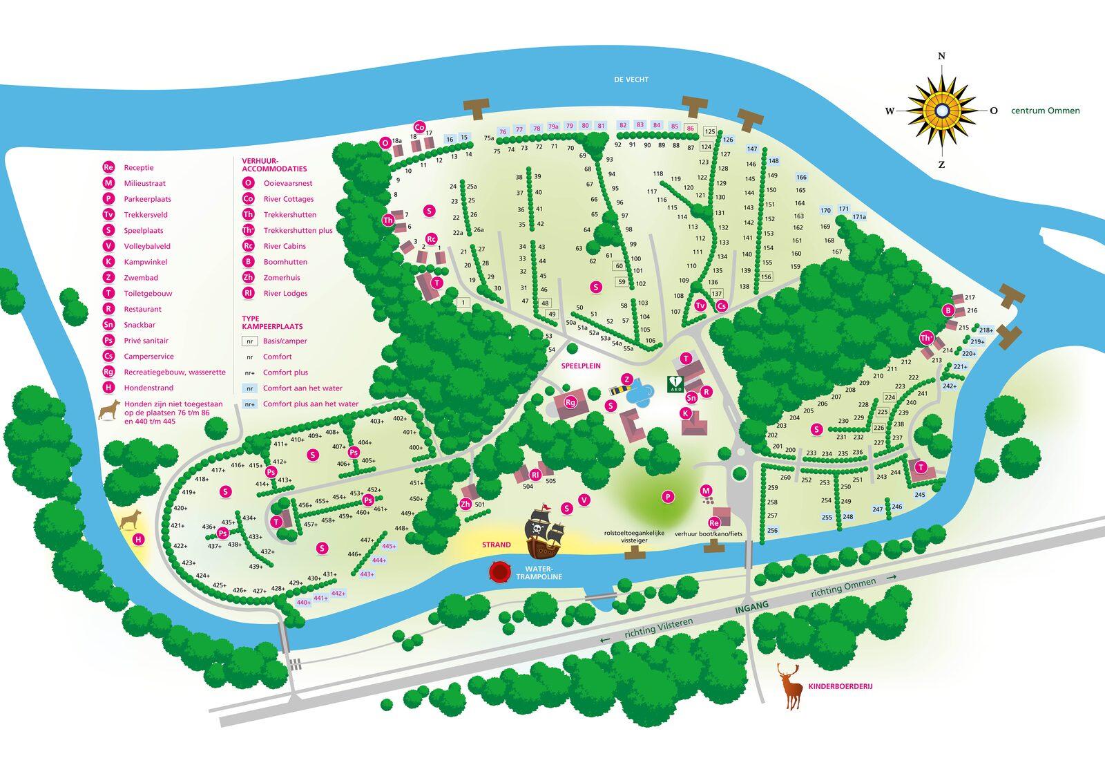 Campingplatz de Koeksebelt Ommen Karte 2018