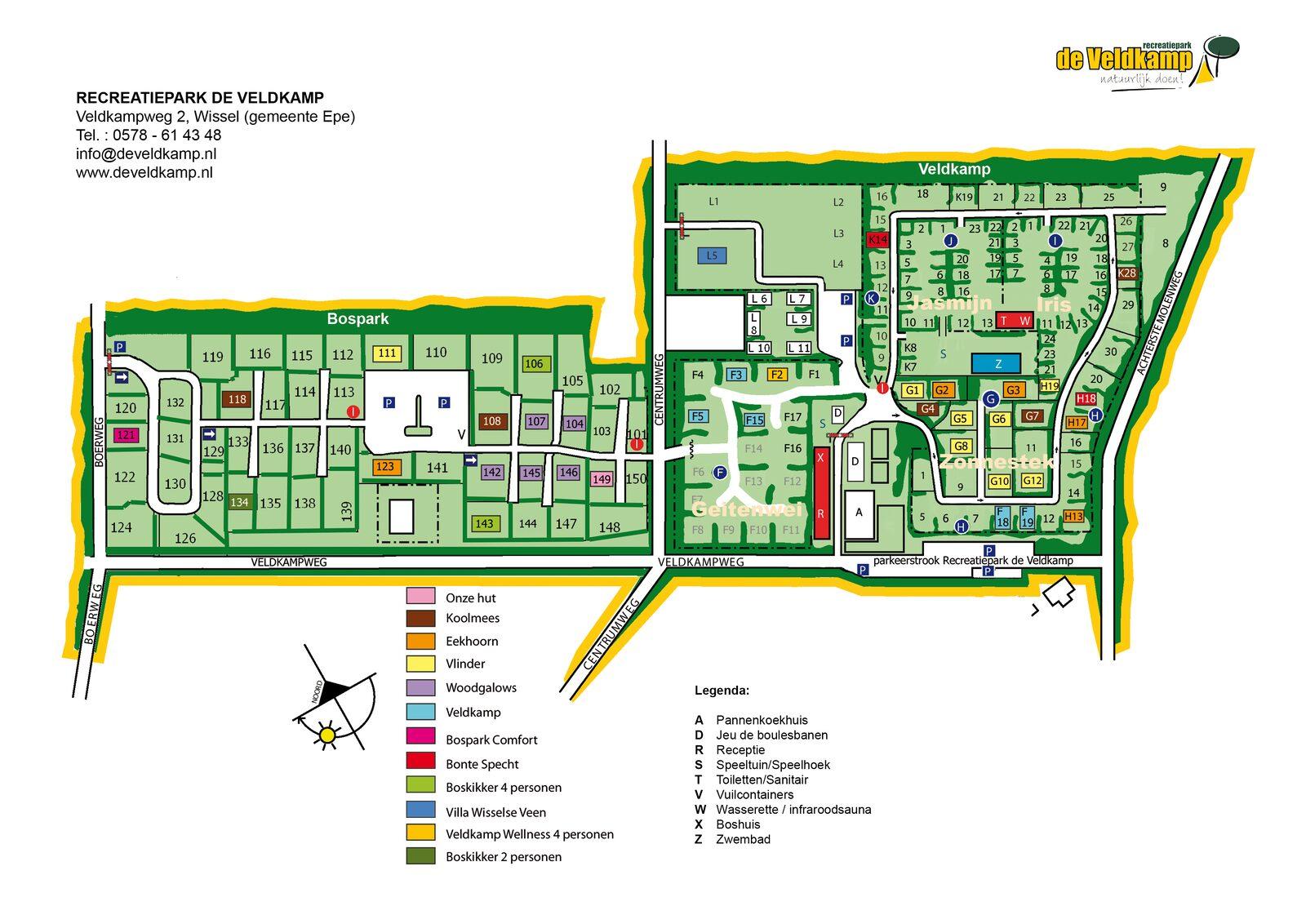 Plattegrond Recreatiepark de Veldkamp