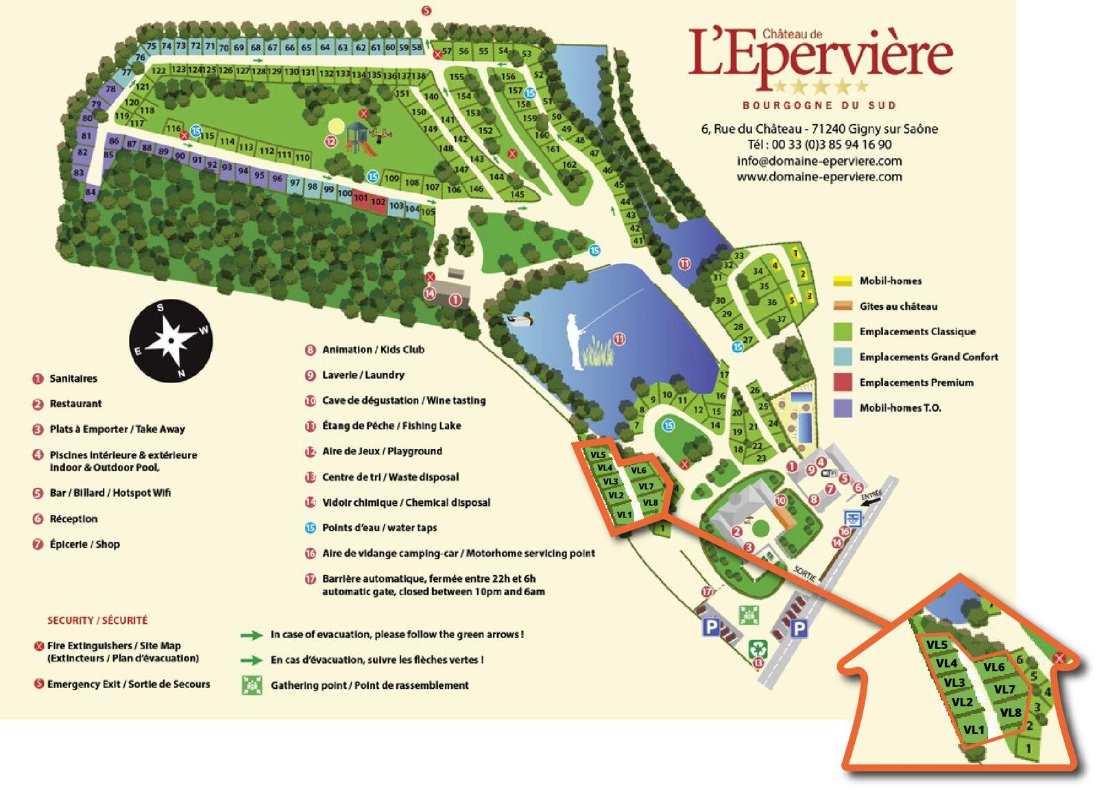 Karte Château de l'Epervière