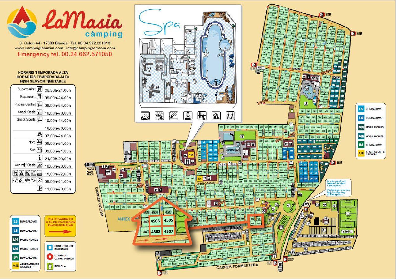 Map of La Masia