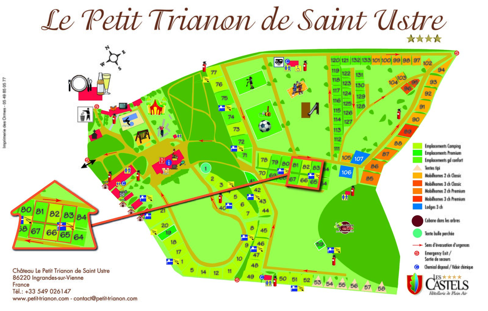 Map of Le Petit Trianon