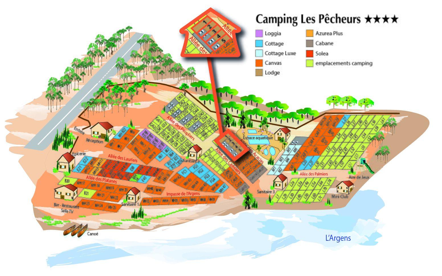 Plattegrond Les Pêcheurs