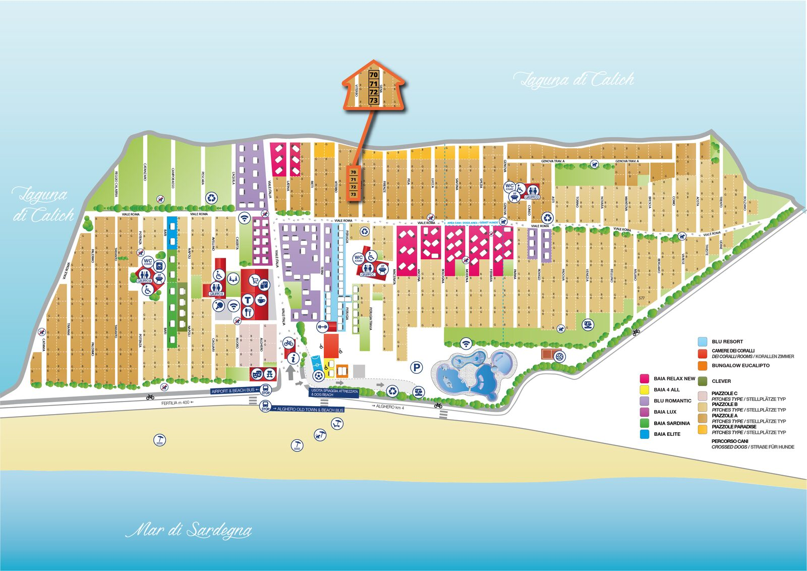 Map of Laguna Blu
