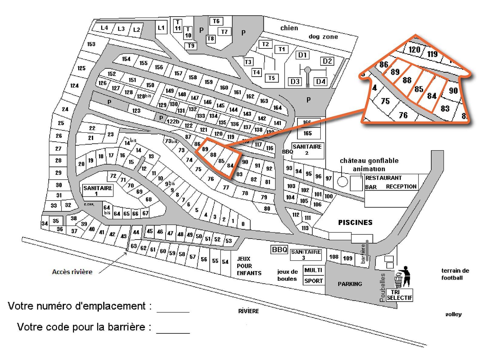 Map Ardèche Camping