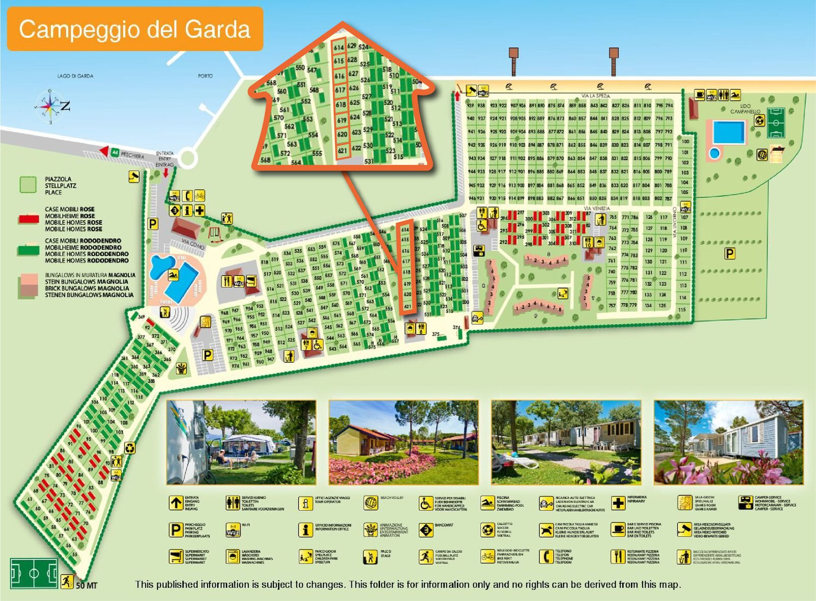 Plattegrond Campeggio del Garda