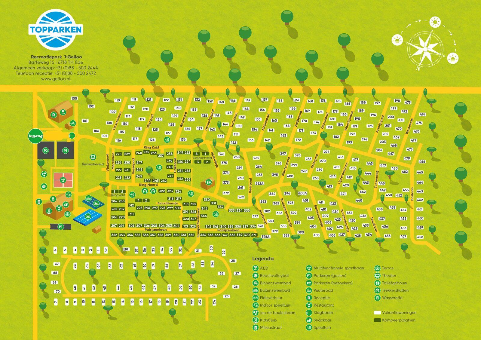 Karte vom Ferienpark 't Gelloo