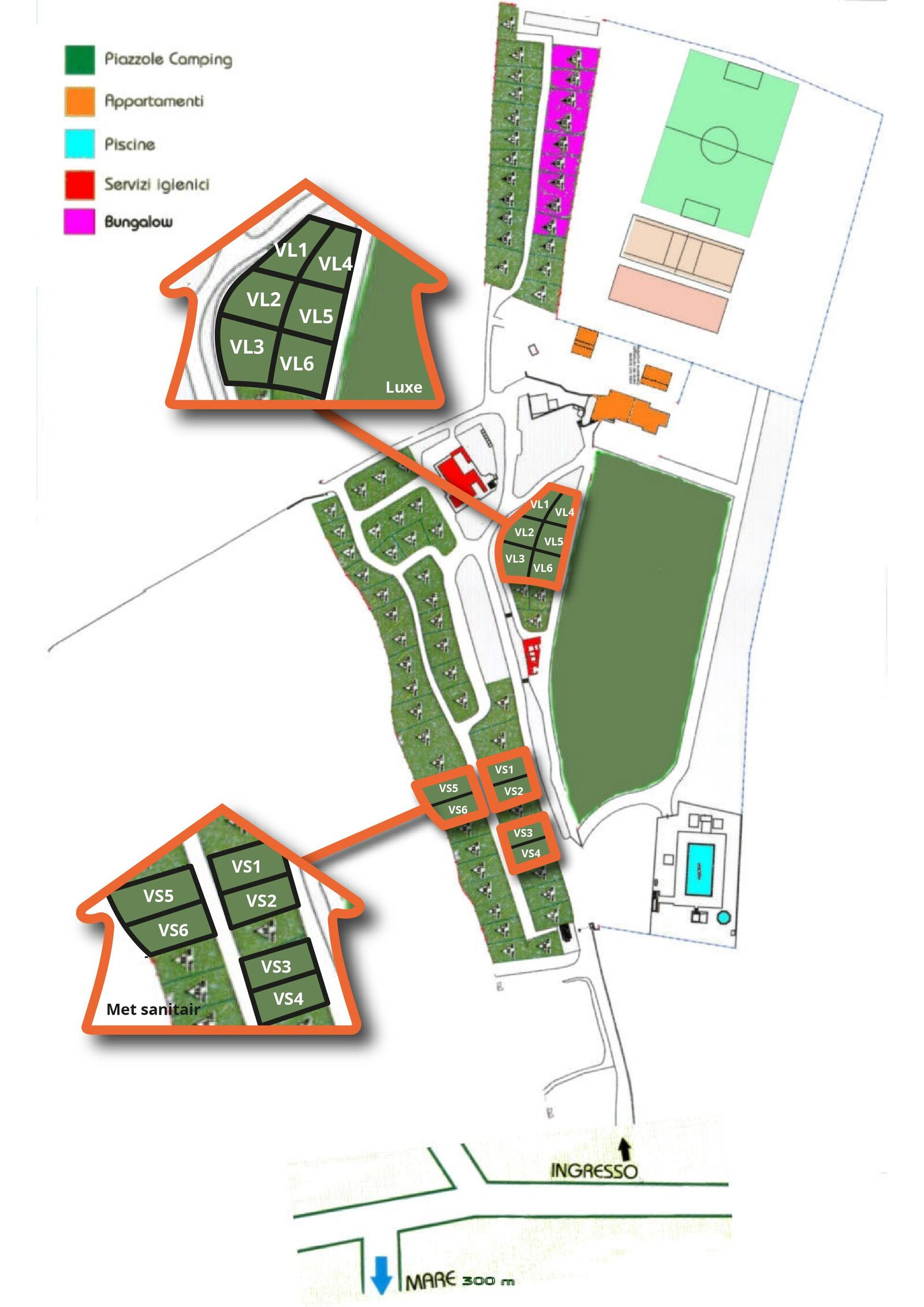 Map Casa dei Prati