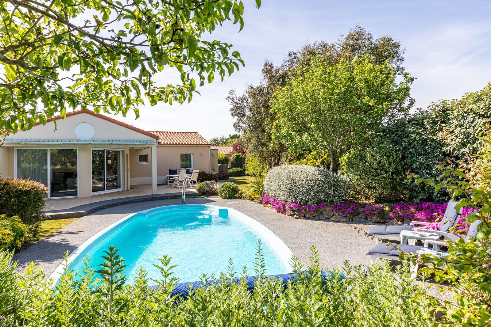 Une maison de vacances avec piscine aux Sables d'Olonne