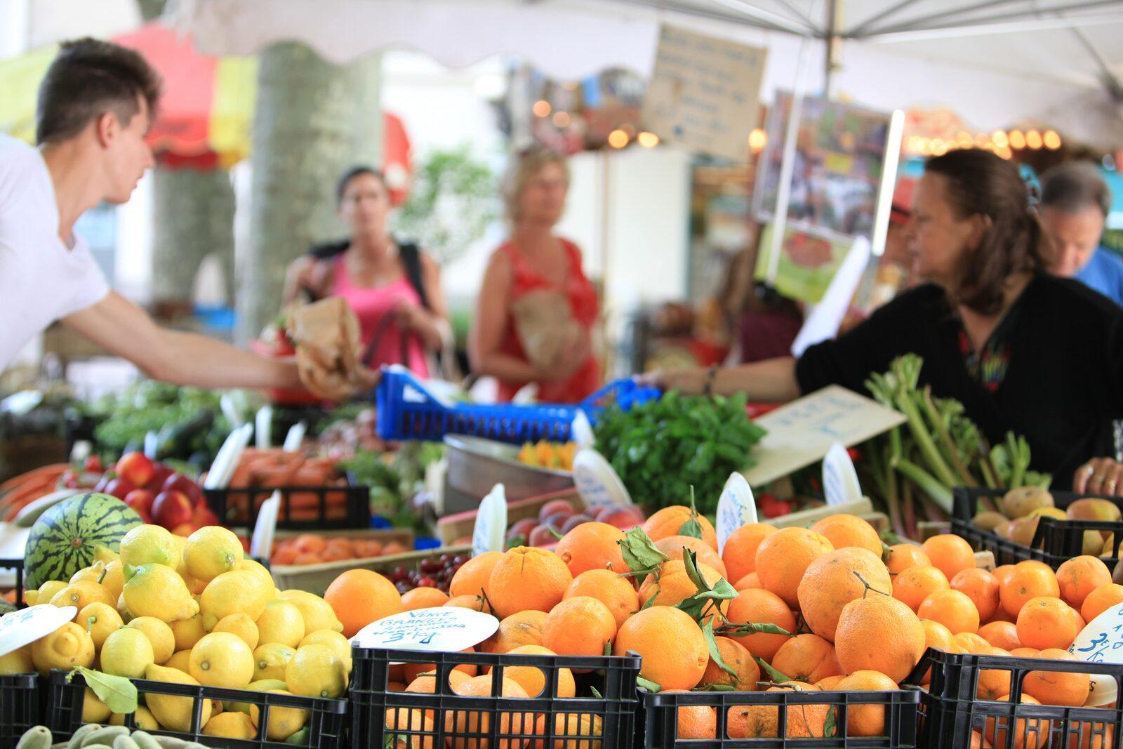 Marktjes in Vence