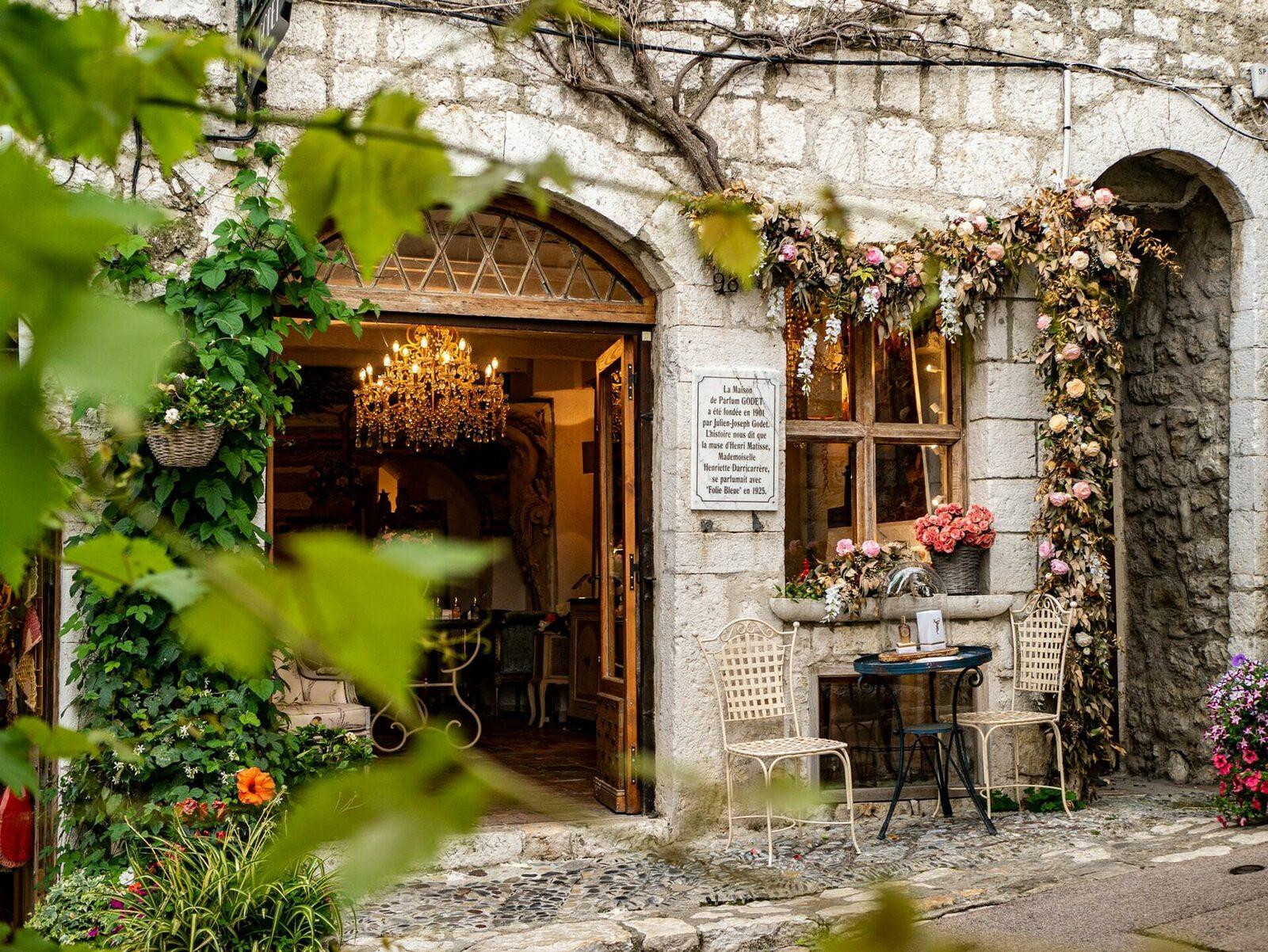 Maison Godet Parfum à St Paul de Vence sur la Côte d'Azur