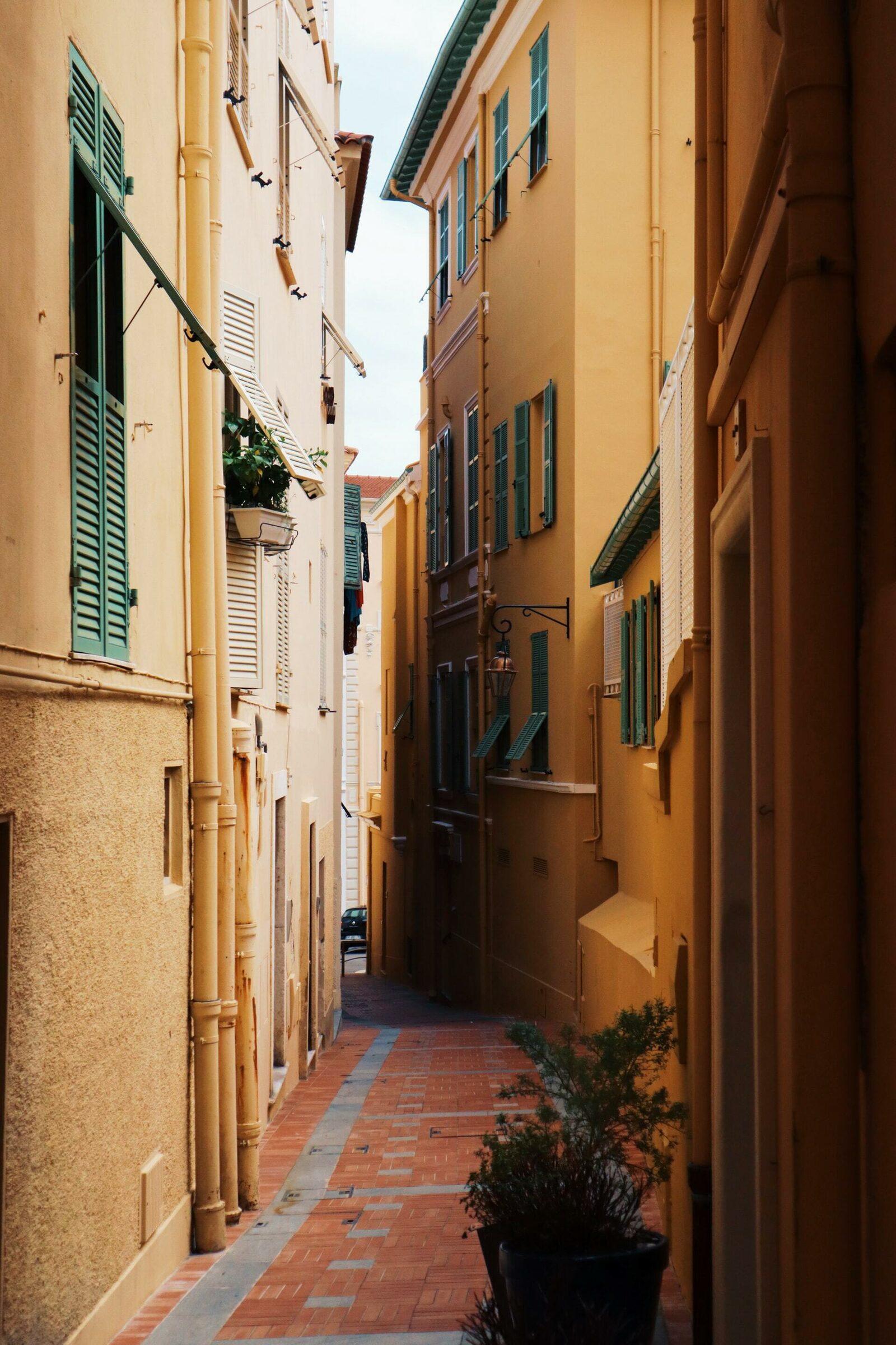 Ruelle à Nice sur la Côte d'Azur
