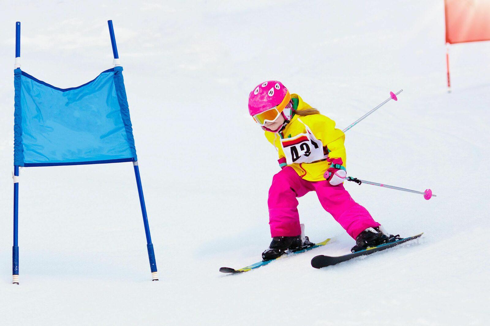 Skirace kinderen Frankrijk