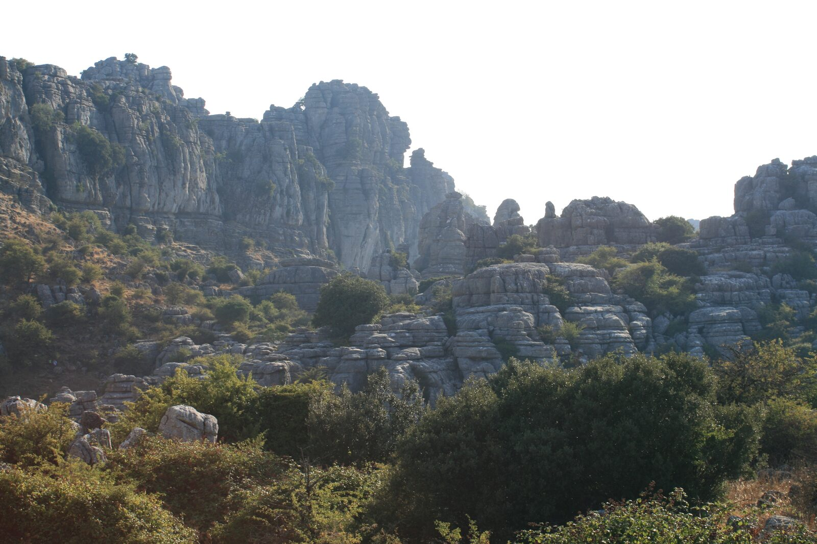 Hiking in the natural park El Torcal