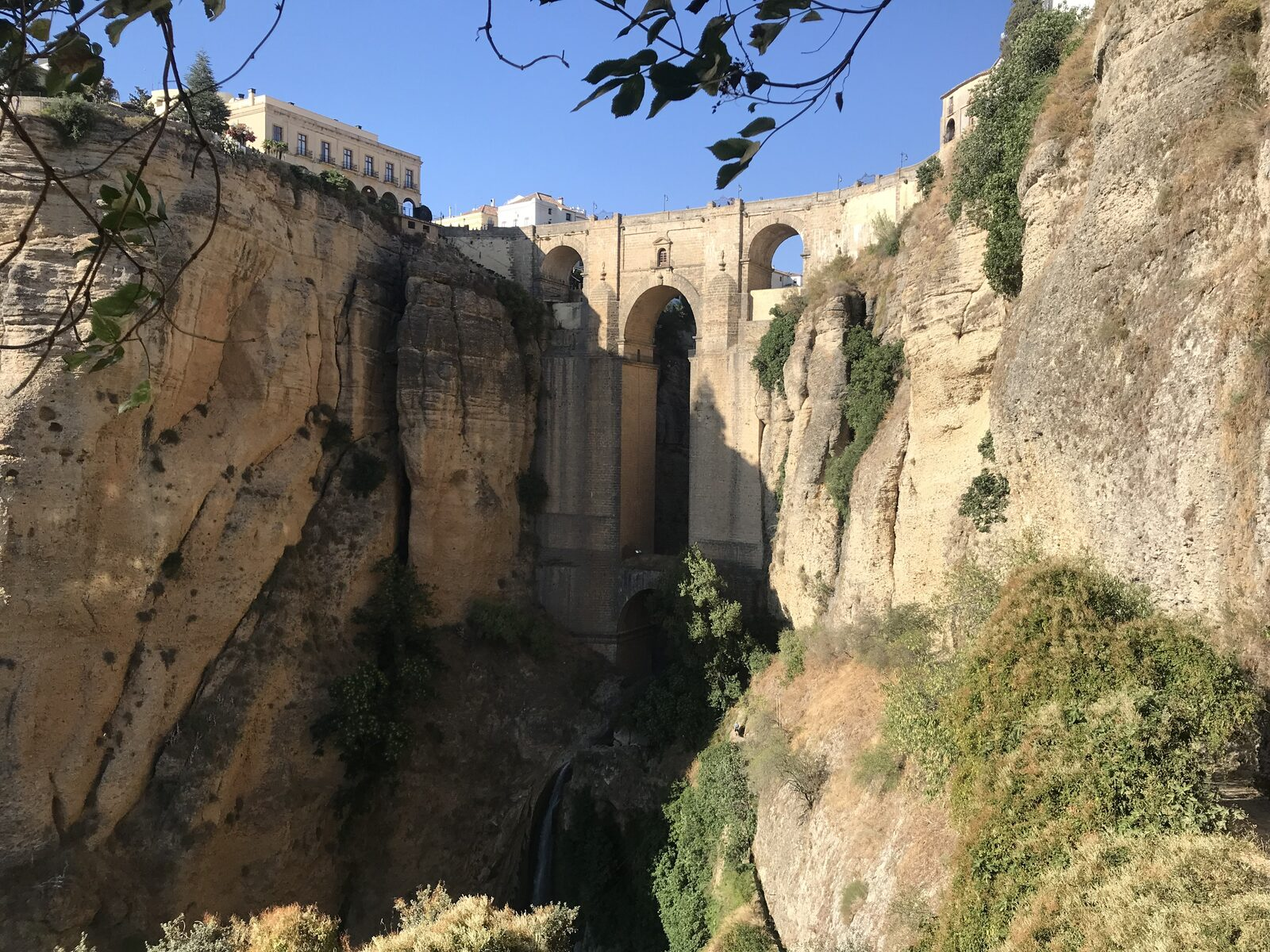 Walking through the gorge of Ronda