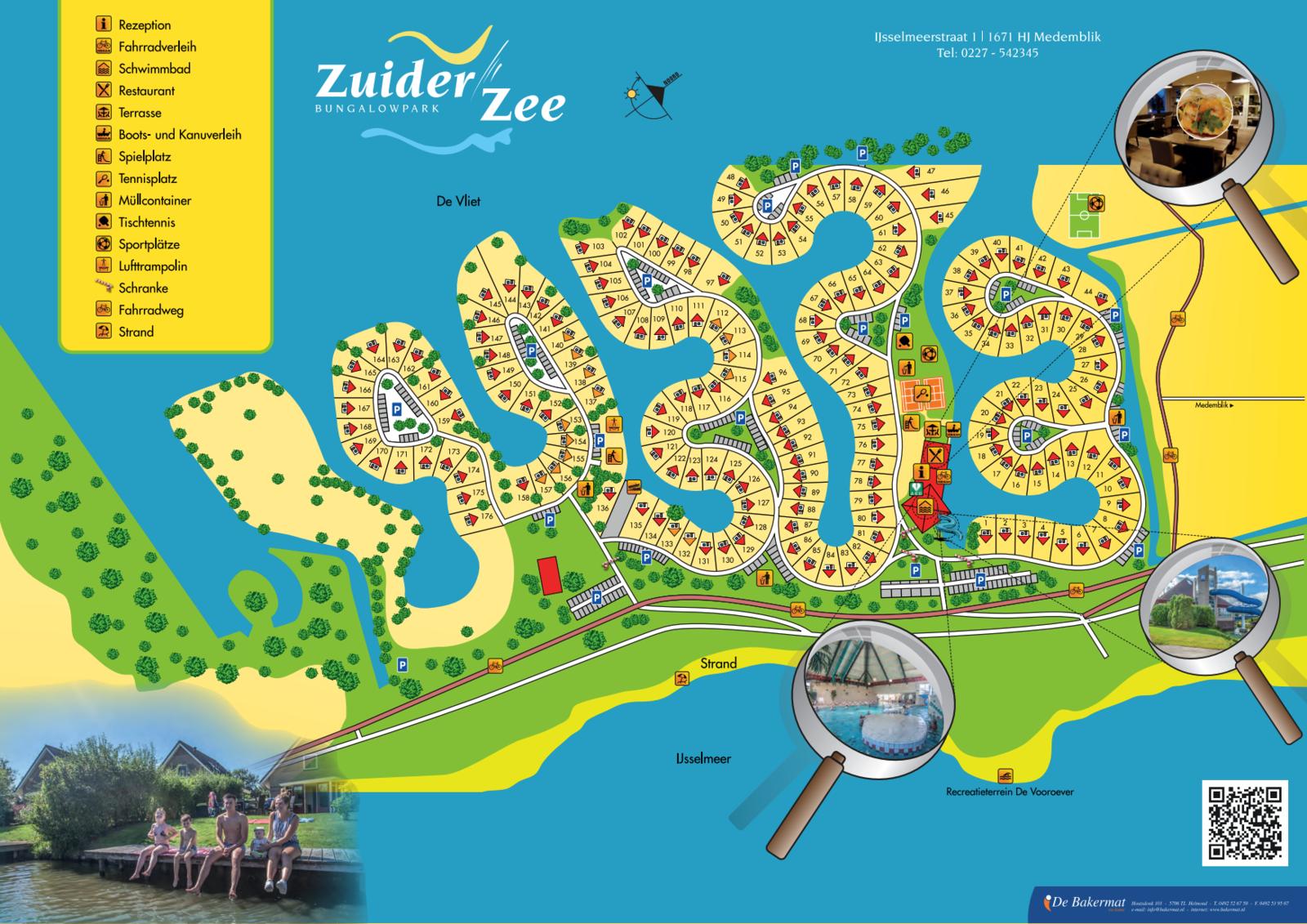 Karte Bungalowpark Zuidezee