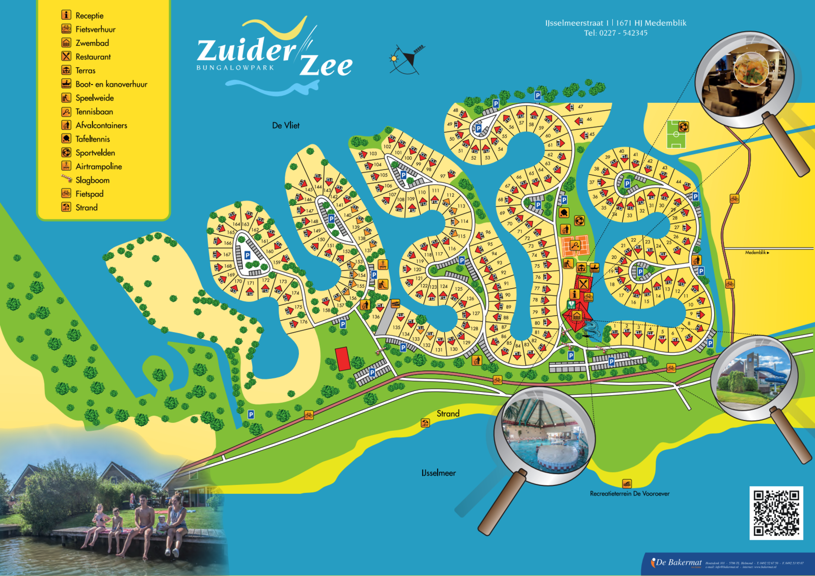Plattegrond Bungalowpark Zuiderzee