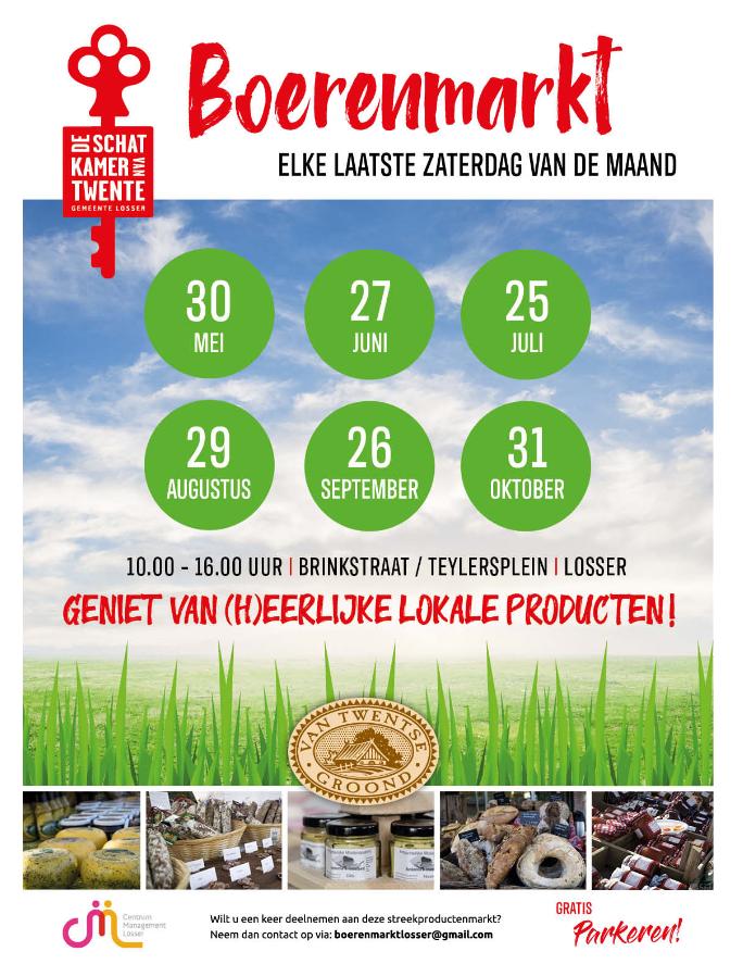 Boerenmarkt Losser - activiteiten omgeving landgoed 't Borghuis
