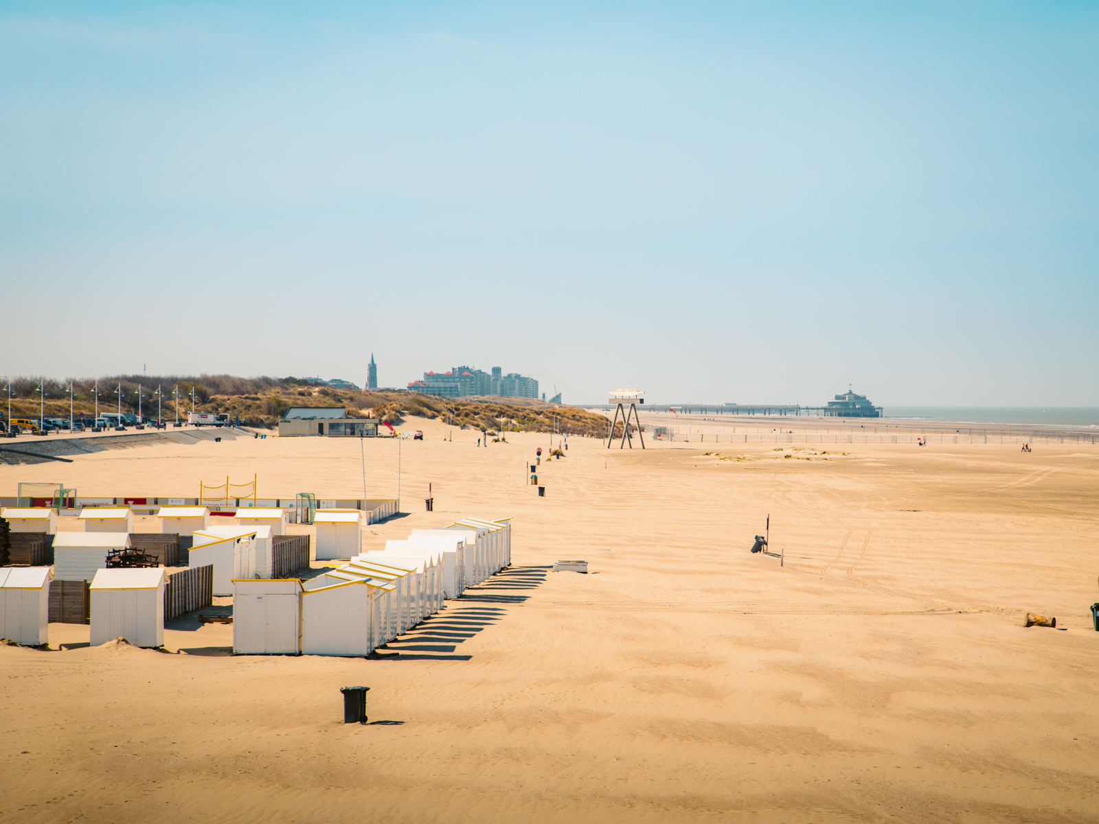 The beautiful beach of Zeebrugge