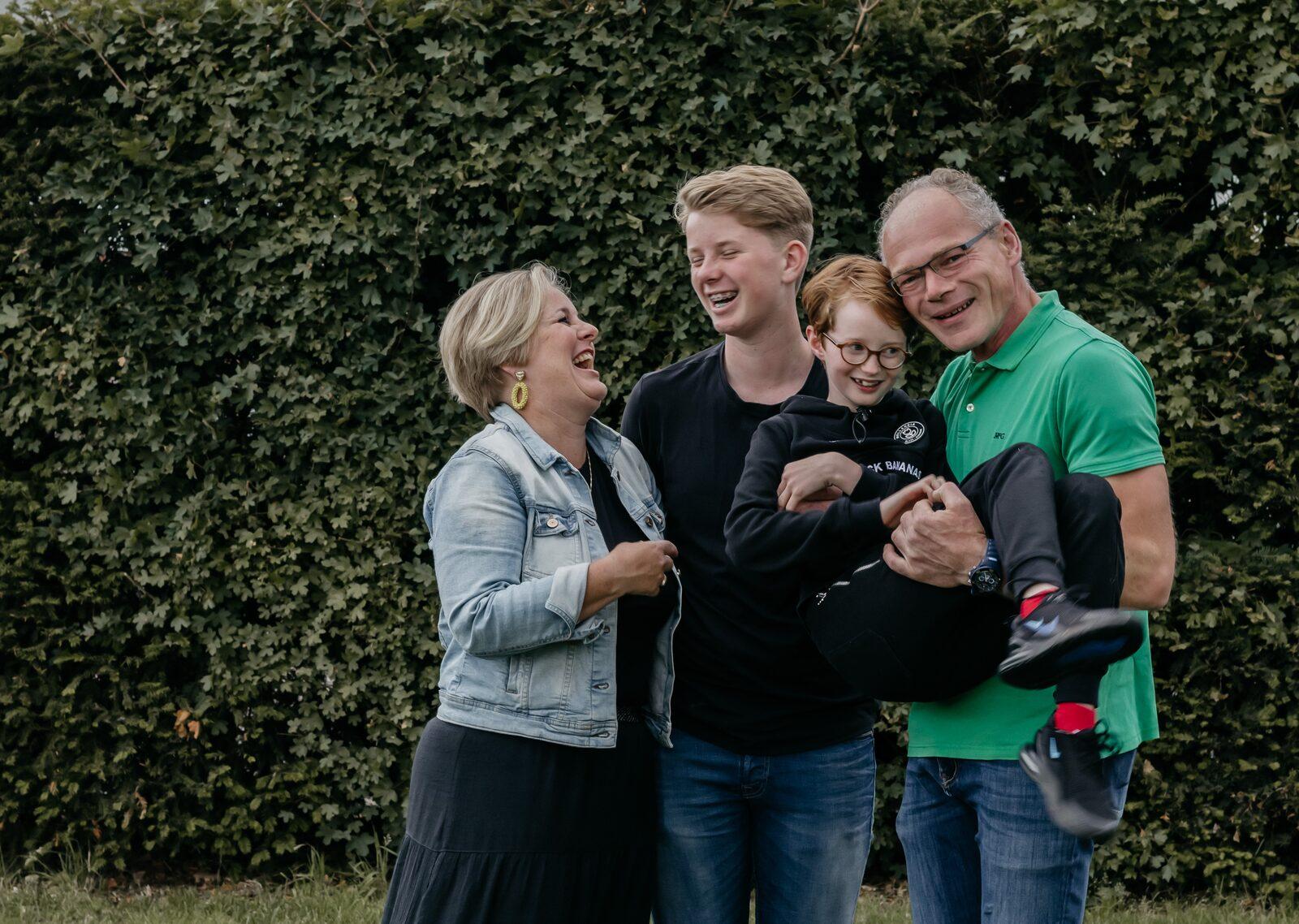 Martine, Guido, Floris en Geert Hoekjen