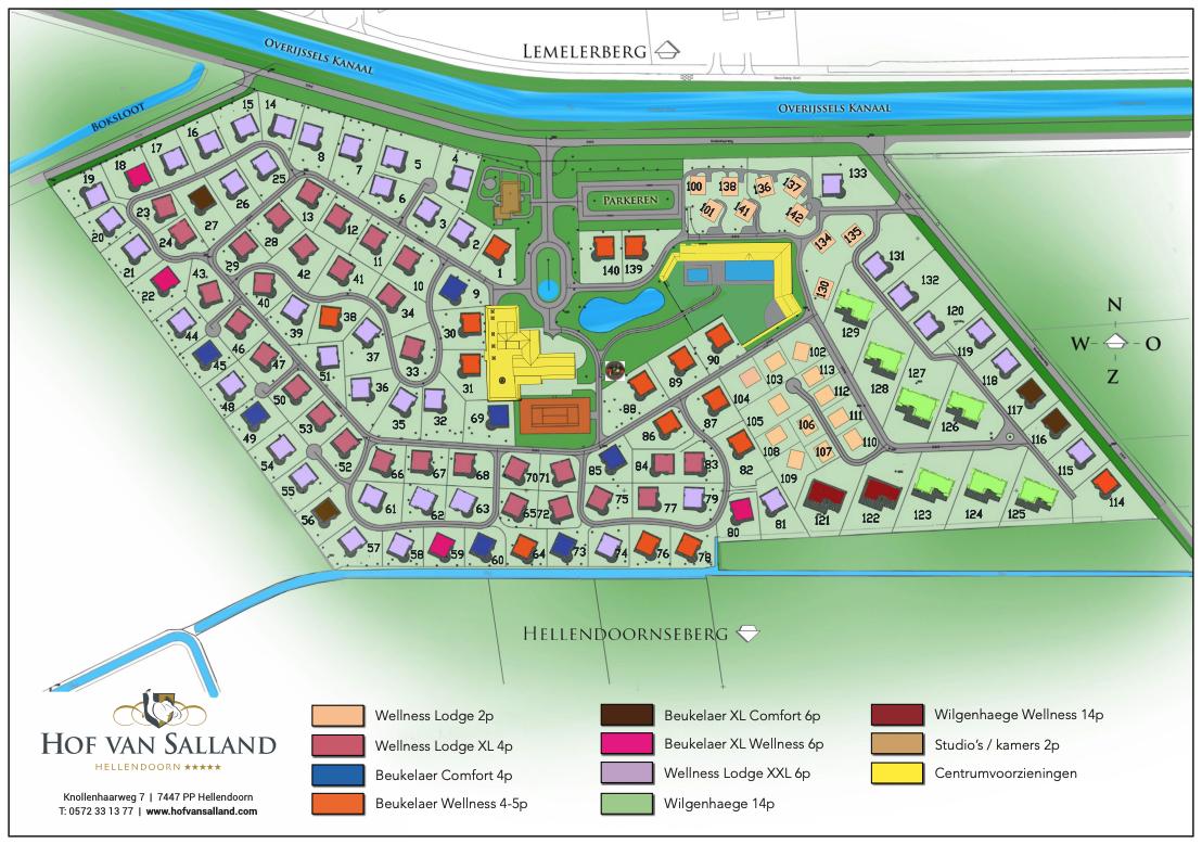 Plattegrond Hof van Salland - okt18