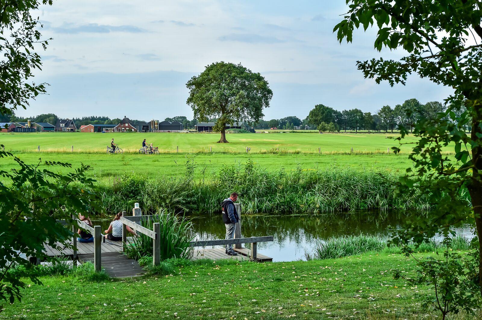 Kleine camping Nederland aan het water